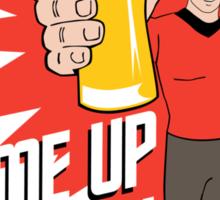 Beer Me Up Scotty Sticker