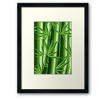 Bamboo Jungle Zen Framed Print