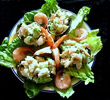 Shrimp Stuffed Avocado Salad by trueblvr