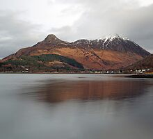 The Pap of Glencoe and Glencoe Village by Maria Gaellman