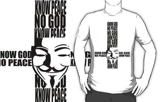 KNOW god NO peace, NO god KNOW peace by Queen Geek
