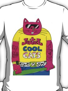 Cool Cats - Yellow / Justice Cat T-Shirt