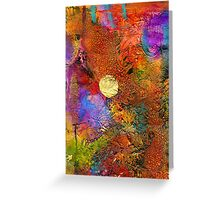 Metallic Sunset Greeting Card