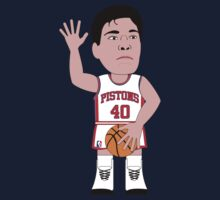 NBAToon of Bill Laimbeer, player of Detroit Pistons by D4RK0