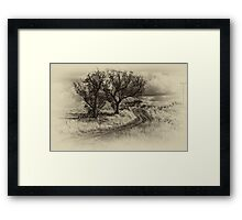 The Journey (Sepia) - Cootamundra,NSW - The HDR Experience Framed Print