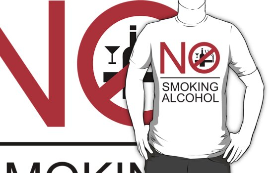 NO Smoking Alcohol Sign by iloveisaan