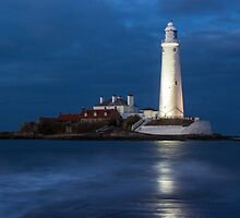 Dusk at St Mary's Lighthouse by John Dunbar