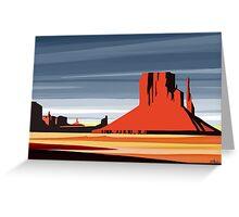 Arizona Desert Landscape Sunset Illustration Greeting Card