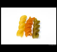 Tri-Color Rotini Pasta  by © Sophie W. Smith