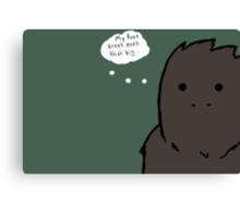 Socially Awkward Bigfoot Canvas Print