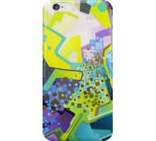 Residual Glow, Intermittent Noise - Abstract Acrylic Canvas Painting iPhone Case/Skin