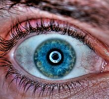 Extreme closeup of a human eye - blue by PhotoStock-Isra