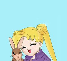 Sailor Moon and Bunny by eatorcs