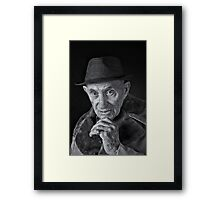 Johnie C and his tooth pick Framed Print
