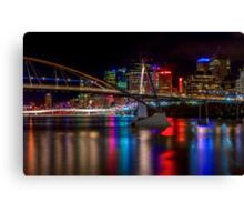 The Brisbane River At Night. Canvas Print