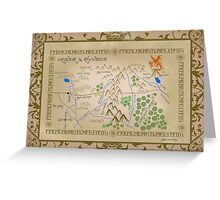 Hobbit map of middle earth. Greeting Card