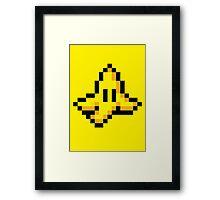 8-Bit Nintendo Mario Kart Banana Peel Framed Print