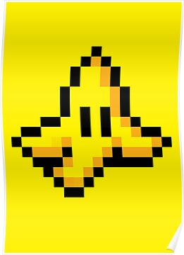 8-Bit Nintendo Mario Kart Banana Peel by electricFIELD