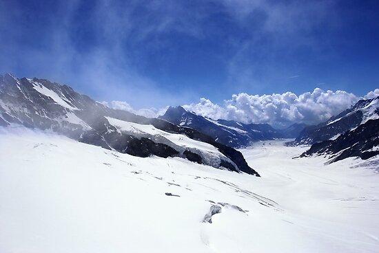 View from Jungfraujoch, Swiss Alps by AlisonOneL