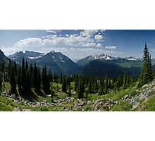 Highline Trail Panorama.2 - Glacier National Park, Montana Photographic Print