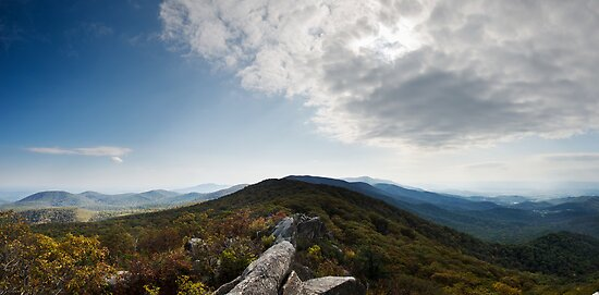 Marys Rock Panorama - Shenandoah National Park, Virginia by Jason Heritage