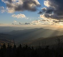 Clingmans Sunset - Great Smoky Mountains National Park, North Carolina by Jason Heritage