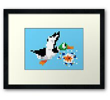 8-Bit Nintendo Duck Hunt 'Miss' Framed Print