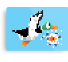 8-Bit Nintendo Duck Hunt 'Miss' Metal Print