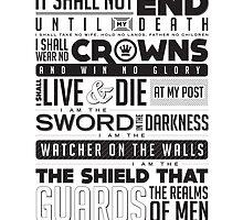 Night's Watch Oath by smorgash-borg