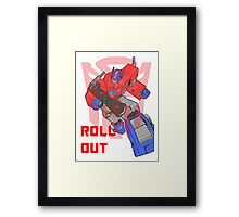 Optimus Prime - Roll Out Framed Print