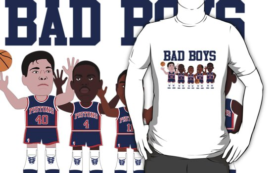 NBAToon of Bad Boys, detroit pistons by D4RK0