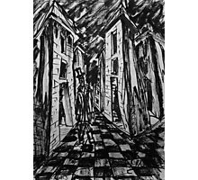 The City of Towers. Brush Pen Sketch, 2013 Photographic Print