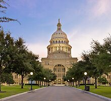 Texas State Capitol at Sunrise - Austin, Texas by RobGreebonPhoto