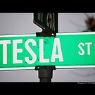 Nikola Tesla Street Sign - Shoreham, New York by © Sophie Smith