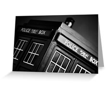 An Old Police Box. Greeting Card