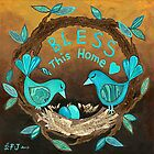 Bless This Home by Lisa Frances Judd ~ QuirkyHappyArt