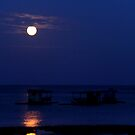 Pale moon at dawn by lensbaby