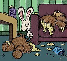 Teddy Bear And Bunny - Triple Dog Dare by Brett Gilbert