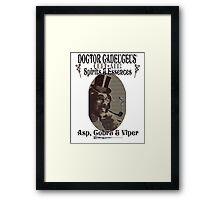 Dr Cadeuceus' Cure-all Snake Oil Framed Print