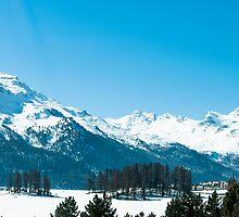 St. Moritz alpine panorama by Michael Brewer