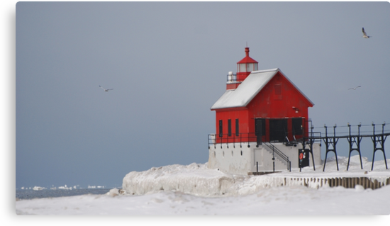 Grand Haven Winter by Lin Taylor