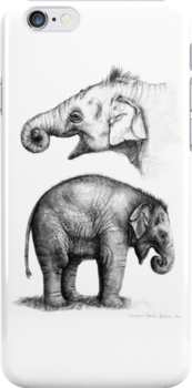 Baby elephant study G008-SK016 by schukinart