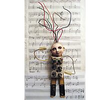 WIRED for SOUND - art assemblage mixed media sculpture Photographic Print