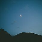 Moon Over Mountains by dantejr