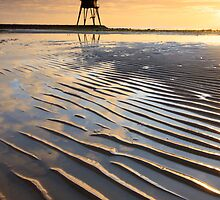 Low tide - Dovercourt Lighthouse, Essex by Justin Minns