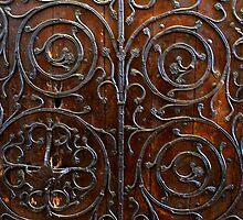 Metal Work on a door in York Minster by John (Mike)  Dobson