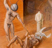 Teseus Slaying the Cubist Minotaur by Jósean Figueroa
