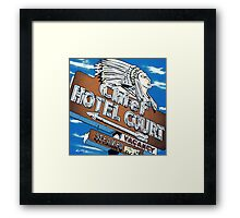 Chief Hotel Court Pop Style Framed Print