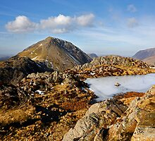 High Crag from the summit of Haystacks by Martin Lawrence