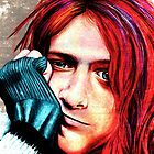 Kurt Cobain - Grungy Version by SRowe Art